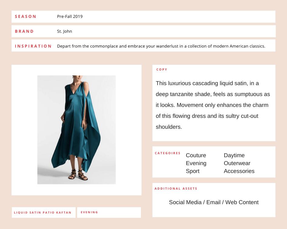 St. John Knits Fashion Copywriting